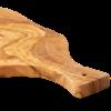 Imagen de Tabla de cortar de madera de olivo 53x28 cm con mango y ranura para líquidos