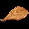 Imagen de Tabla de cortar de madera de olivo de 51x24 cm con mango y ranura para líquidos