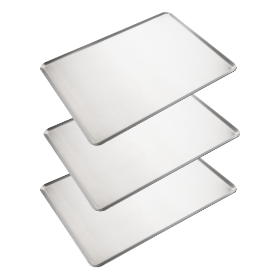 Imagen de Set de 3 Bandejas de Horno de Aluminio Lisa